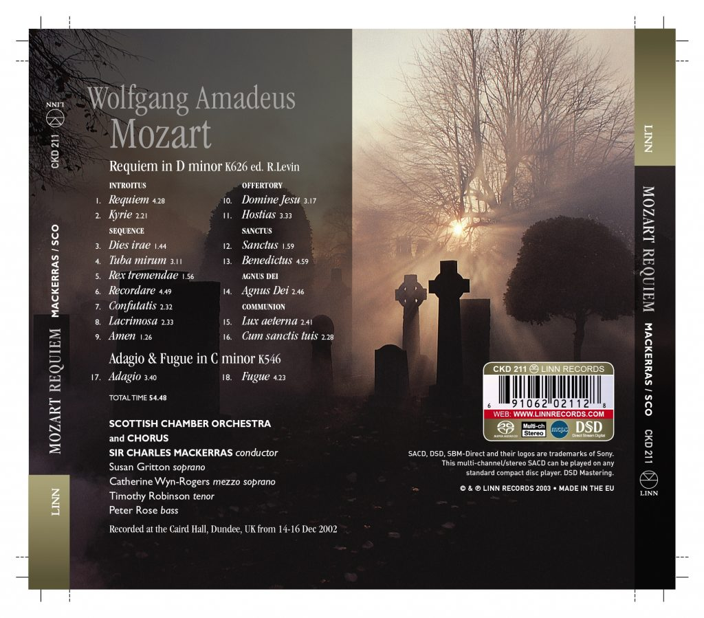 莫扎特:安魂曲(Mozart Requiem, Adagio & Fugue) [FLAC]