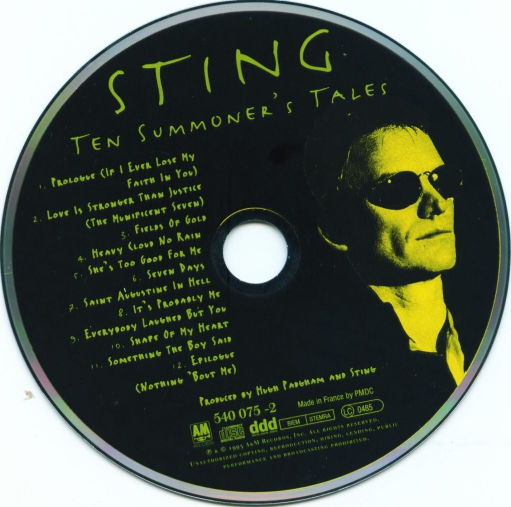 Sting – Ten Summoners Tales (1993) FLAC Soup(这个杀手不太冷)