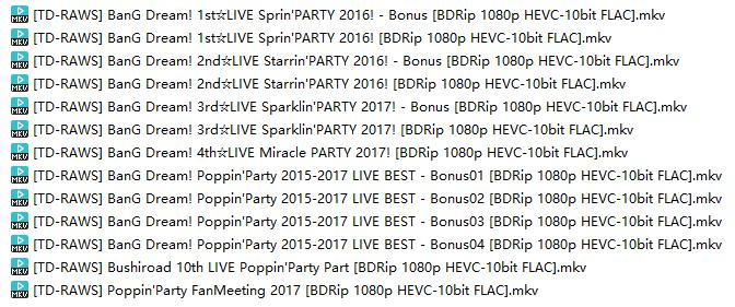 BanG Dream! Poppin'Party 2015-2017 LIVE BEST [BDRip 1080p HEVC-10bit FLAC]